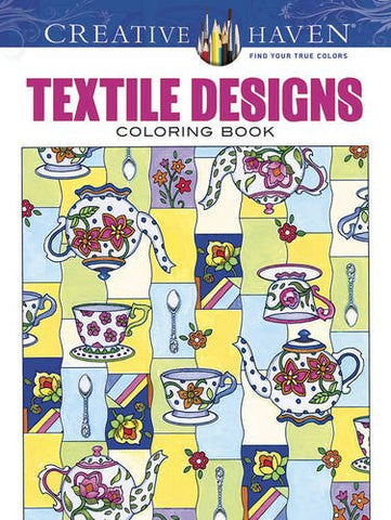 Creative Haven Sarnat Textile Designs Coloring Book