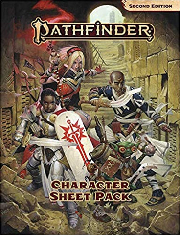 PathFinder 2nd ed Character Sheet Pack