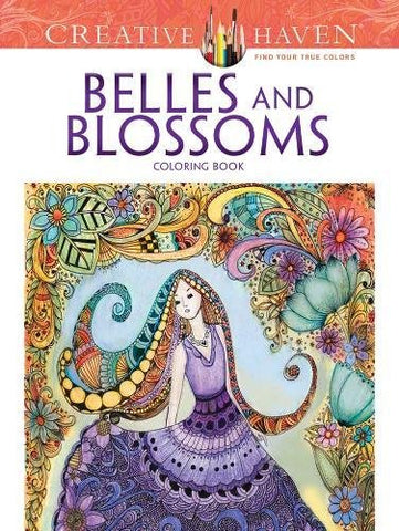 Creative Haven Bousquet Belles & Blossoms Coloring Book