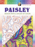 Creative Haven Noble Paisley Splash of Color Coloring Book