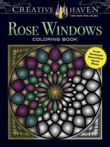 Creative Haven Avren Rose Windows Coloring Book
