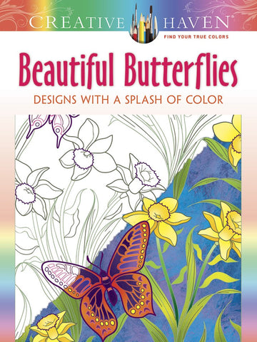 Creative Haven Mazurk Beautiful Butterflies Splash of Color Coloring Book
