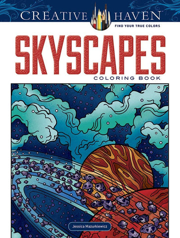 Creative Haven Mazurkiewicz Skyscapes Coloring Book