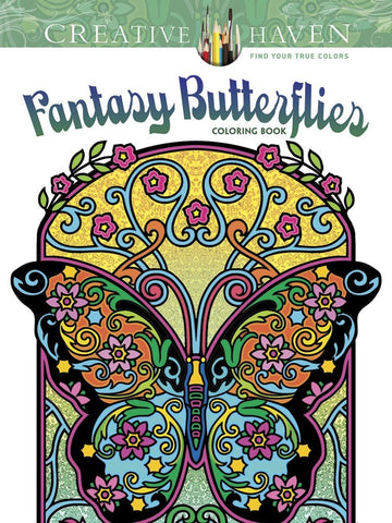 Creative Haven Noble Fantasy Butterflies Coloring Book
