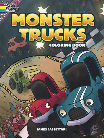 Dover Cassettari Monster Truck Coloring Book