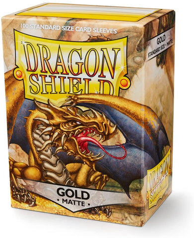 Dragon Shield Matte Gold Sleeves