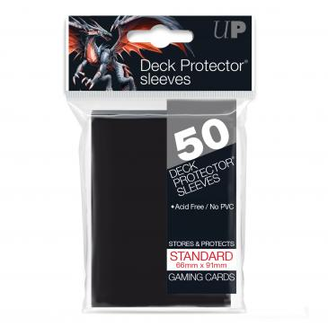 UPR Black Solid 50ct Deck Protectors
