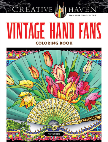 Creative Haven Noble Vintage Hand Fans Coloring Books