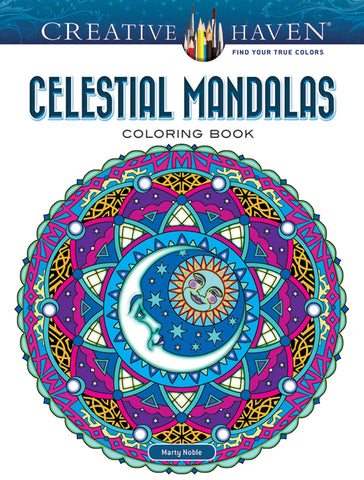Creative Haven Noble Celestial Mandalas Coloring Book
