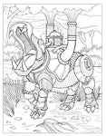 Dover Elder Steampunk Animals Coloring Book