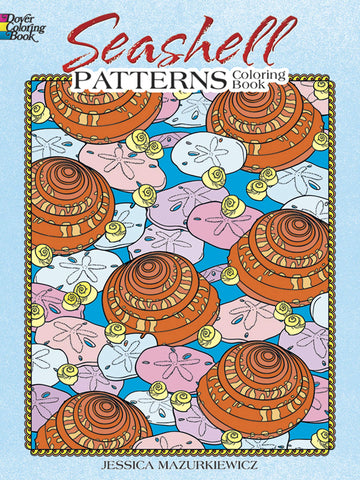 Dover Mazurkiew Seashell Pattern Coloring Book