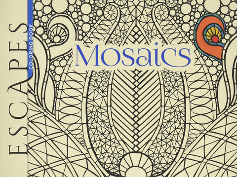 Dover Mazurkei Escapes Mosaics Coloring Book