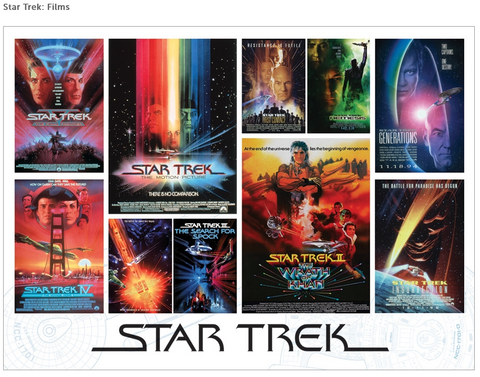 Star Trek: Films 1000  piece puzzle