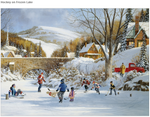 Hockey on Frozen Lake 1000 piece puzzle