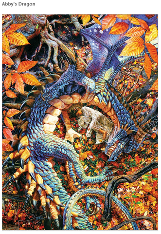 Abby's Dragon 1000 piece puzzle