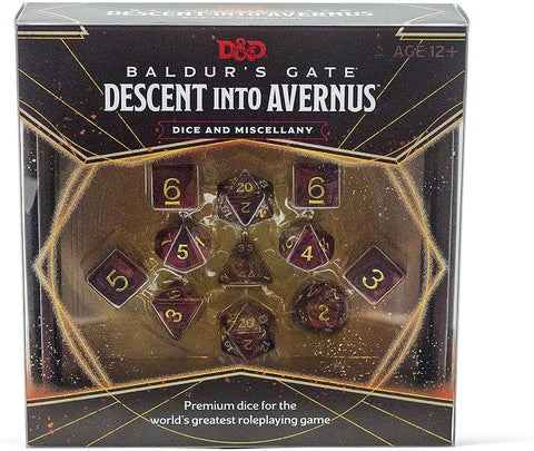 D&D Baldur's Gate Descent Into Avernus Dice