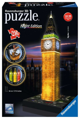 Big Ben Night 3D 216 pc
