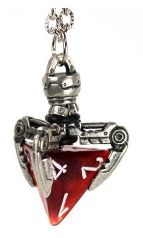 Dice Holder Jewelry: Tekno Claw Pendant d4 - Old Silver Finish