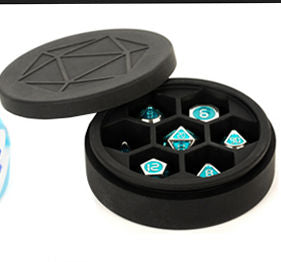 Silicone Round Dice Case: Black