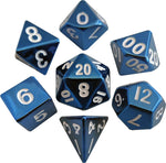Blue 16mm Metal Polyhedral Dice Set