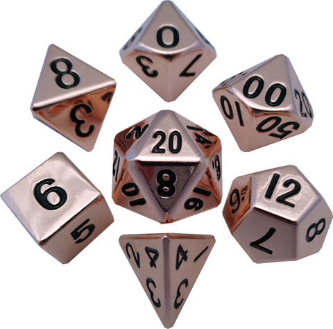 Copper 16mm Metal Polyhedral Dice Set