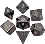 Sterling Gray 16mm Metal Polyhedral Dice Set