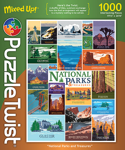 PuzzleTwist National Parks Treasures 1000 pc