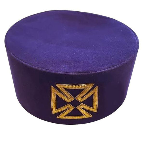 Masonic Knight Templar Purple Grand Prior Cap Hat Crown - Regalialodge