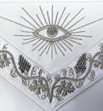 Load image into Gallery viewer, MASTER MASON Grand White Hand Embroided Apron with Square Compass G - Regalialodge