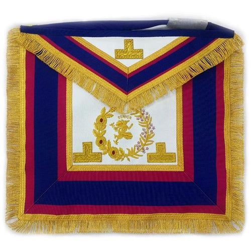 Past Grand Senior Deacon Dress Apron with Hermes Emblem - Regalialodge