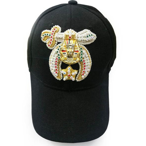 Shriner Jewel Embroidered Black Baseball Cap - Regalialodge