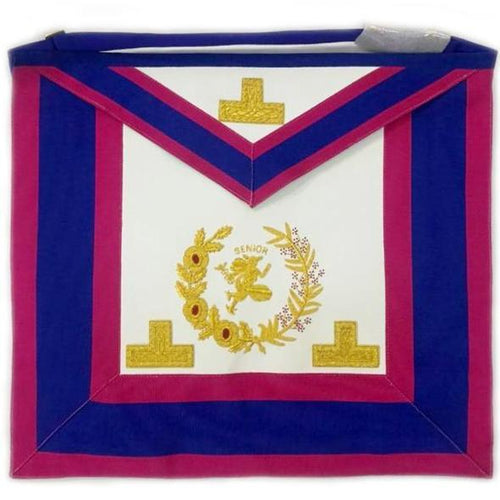 Past Grand Senior Deacon Undress Apron with Hermes Emblem - Regalialodge