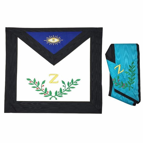 Masonic AASR 4th Degree Apron and Collar Set Machine Embroidered - Regalialodge