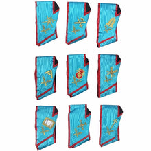 Load image into Gallery viewer, Memphis Misraim Officer Collars Machine Embroidery Set - Set of 9 Collar - Regalialodge