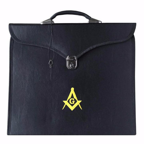 Masonic MM/WM and Provincial Full Dress Yellow Square Compass Cases II - Regalialodge
