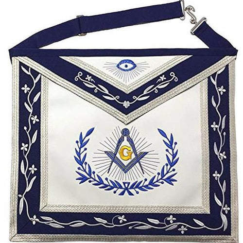 Masonic Master Mason Machine Embroidery Freemasons Apron - Regalialodge