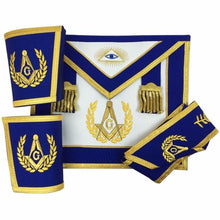 Load image into Gallery viewer, Blue Lodge Master Mason Apron Set Apron,Collar gauntlets (Cuffs) - Regalialodge