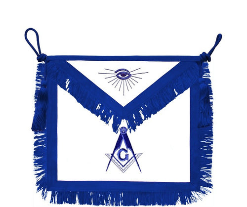 Rito York // Master Mason Hand Embroidered  Signature Apron - Regalialodge