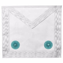 Load image into Gallery viewer, Masonic Blue lodge Fellow Craft Apron with Rosettes - Regalialodge