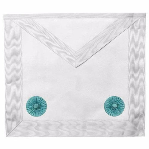 Masonic Blue lodge Fellow Craft Apron with Rosettes - Regalialodge