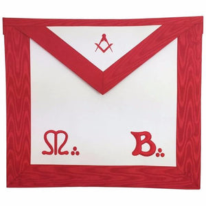 Masonic Master Mason MB Apron Square Compass - Regalialodge