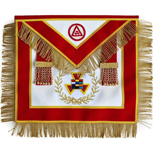 Masonic Royal Arch Past High Priest PHP Bullion Hand Embroidered Apron - Regalialodge