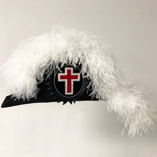 Knights Templar Line Officer Sir Knight Chapeau - Standard - Regalialodge