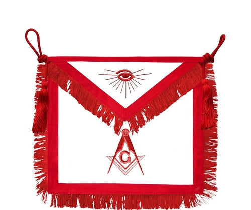 Rito Escoces // Master Mason Signature Hand Embroidered Apron - Regalialodge