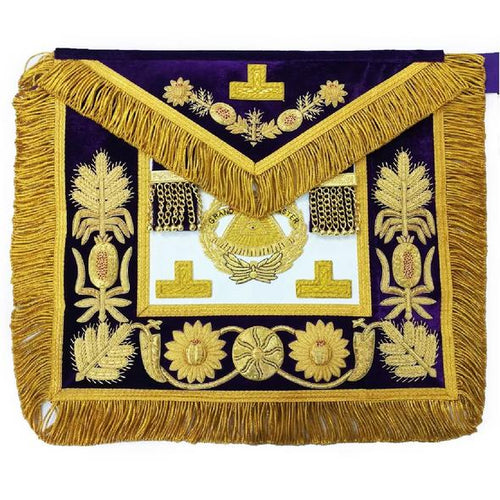 Deluxe Masonic Grand Master Apron Grand Lodge - Regalialodge