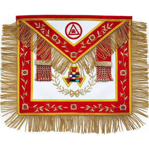 Masonic Royal Arch PHP Past High Priest Apron Bullion Hand Embroidered