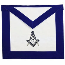Load image into Gallery viewer, Masonic MASTER MASON Hand Embroided Apron with square compass with G Velvet - Regalialodge