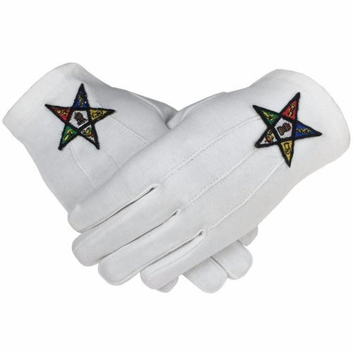 Masonic OES Order of the Eastern Star 100% Cotton Glove - Regalialodge