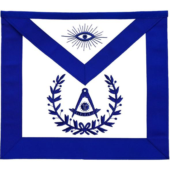 Masonic Past Master Apron With Wreath Blue - Regalialodge