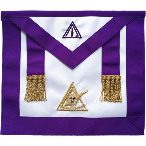 Masonic Past Thrice Illustrious Master Apron PTIM Hand Embroidered - Regalialodge